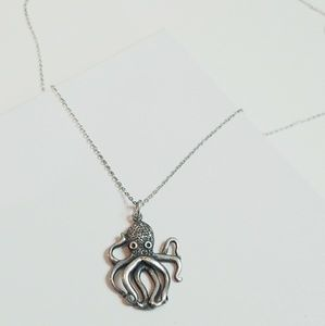 Sterling Silver Octopus Sea Adjustable Necklace